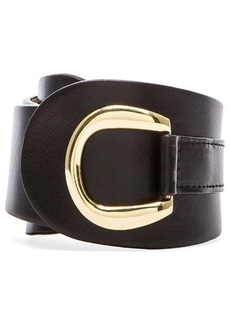 Rachel Pally Leather Belt in Black