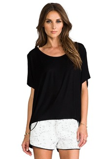 Rachel Pally Rib Darby Top in Black