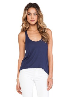 Rachel Pally Rib Racerback Tank in Navy