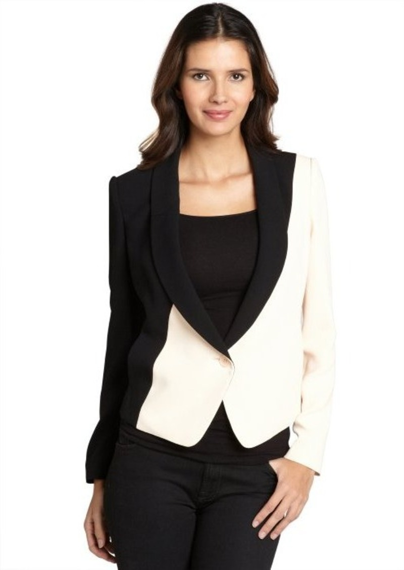 rachel roy rachel roy black and rose tuxedo jacket. Black Bedroom Furniture Sets. Home Design Ideas