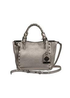 Rafe Joey Mini Leather Tote Bag, Metallic Gray