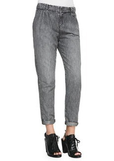 Aberdeen Silver Chambray Trousers   Aberdeen Silver Chambray Trousers