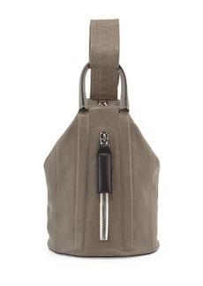 Aston Leather Sling Backpack, Smoke   Aston Leather Sling Backpack, Smoke