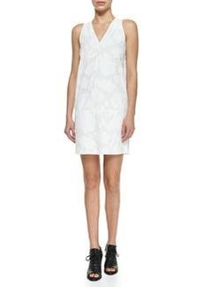 Augusta Embossed Dress, Bright White   Augusta Embossed Dress, Bright White