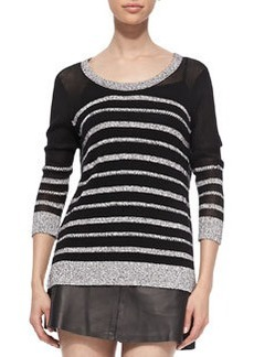 Azra Striped Knit Pullover   Azra Striped Knit Pullover