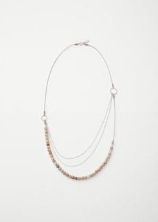 Beaded lapis short necklace