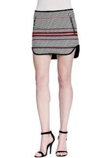 Bess Striped Zip-Pocket Skirt   Bess Striped Zip-Pocket Skirt