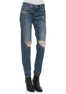 Boyfriend Buckley Ripped-Knee Jeans   Boyfriend Buckley Ripped-Knee Jeans