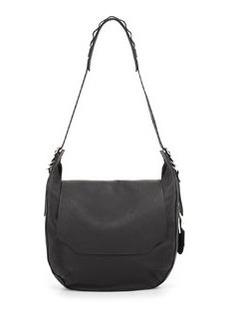 Bradbury Leather Flap Hobo Bag, Black   Bradbury Leather Flap Hobo Bag, Black