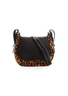 Bradbury Small Leopard-Print Calf Hair Crossbody Bag, Black   Bradbury Small Leopard-Print Calf Hair Crossbody Bag, Black
