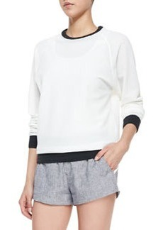 Classic Perforated/Solid Race Sweatshirt   Classic Perforated/Solid Race Sweatshirt