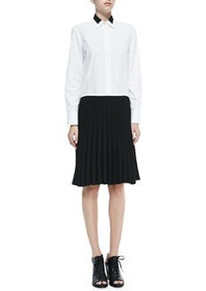 Courcheval Shirtdress W/ Pleated Contrast Skirt   Courcheval Shirtdress W/ Pleated Contrast Skirt