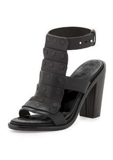 Deane Leather T-Strap Sandal, Black   Deane Leather T-Strap Sandal, Black