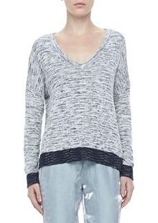 Dionne Tonal V-Neck Sweater   Dionne Tonal V-Neck Sweater