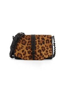 Enfield Calf Hair Flap Crossbody Bag, Leopard   Enfield Calf Hair Flap Crossbody Bag, Leopard
