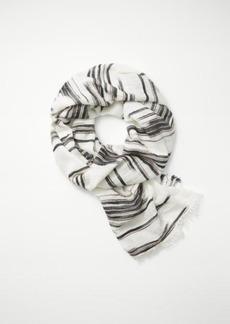 Frayed stripe scarf