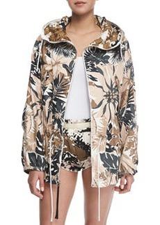 Garrison Floral-Print Hooded Jacket   Garrison Floral-Print Hooded Jacket