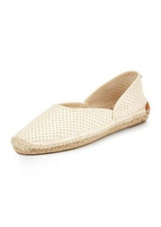 Georgie Perforated Leather Espadrille, Off-White   Georgie Perforated Leather Espadrille, Off-White