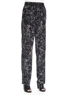 Harvey Floral-Print Silk Pants   Harvey Floral-Print Silk Pants