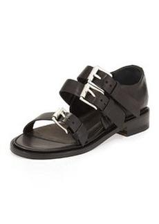 Rag & Bone Hudson Multi-Strap Leather Sandal, Black