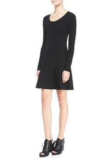 Isla Long-Sleeve Ribbed-Knit Dress   Isla Long-Sleeve Ribbed-Knit Dress