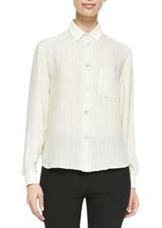 Jo Anne Striped Silk Blouse   Jo Anne Striped Silk Blouse
