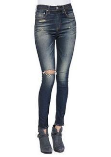 Justine High-Rise Skinny Jeans, Mateos   Justine High-Rise Skinny Jeans, Mateos