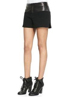 Kelly Leather-Waist Shorts   Kelly Leather-Waist Shorts