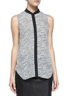 Kent Graphic Lace-Print Silk Shirt   Kent Graphic Lace-Print Silk Shirt