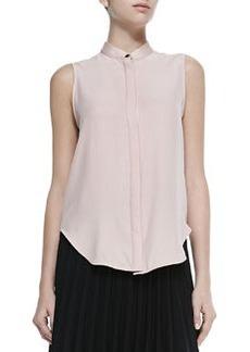Kent Sleeveless Shirt W/ Hidden Placket   Kent Sleeveless Shirt W/ Hidden Placket