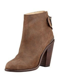 Kerr Back-Tab Leather Ankle Boot, Brown   Kerr Back-Tab Leather Ankle Boot, Brown