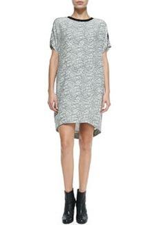 Lafayette Graphic Lace-Print Silk Shift Dress   Lafayette Graphic Lace-Print Silk Shift Dress