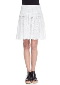 Lakewood Netted Pleated A-Line Skirt   Lakewood Netted Pleated A-Line Skirt