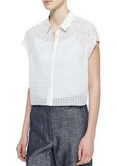 Lakewood Short-Sleeve Perforated Shirt   Lakewood Short-Sleeve Perforated Shirt