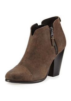 Margot Leather Zip Ankle Bootie, Stone   Margot Leather Zip Ankle Bootie, Stone