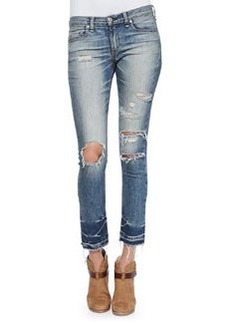 Mid-Rise Distressed & Cropped Jeans, Ensenada   Mid-Rise Distressed & Cropped Jeans, Ensenada