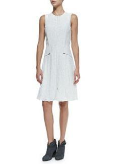 Nettie Sleeveless Zip-Pocket Dress W/ Dots   Nettie Sleeveless Zip-Pocket Dress W/ Dots