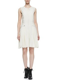 Nettie Striated Zip-Pocket Dress   Nettie Striated Zip-Pocket Dress