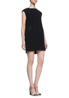 Nevis Leather-Trim Shift Dress   Nevis Leather-Trim Shift Dress