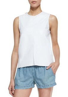 Nicole Cutaway-Back Cotton Tank   Nicole Cutaway-Back Cotton Tank