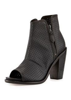 Noelle Peep-Toe Leather Ankle Boot   Noelle Peep-Toe Leather Ankle Boot
