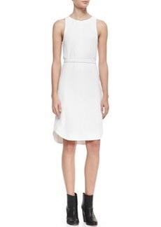 Olivia Belted Sleeveless Crepe Dress   Olivia Belted Sleeveless Crepe Dress