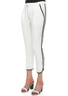 Platini Side-Stripe Cropped Pants   Platini Side-Stripe Cropped Pants
