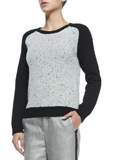 Portia Pullover with Solid Sleeves   Portia Pullover with Solid Sleeves