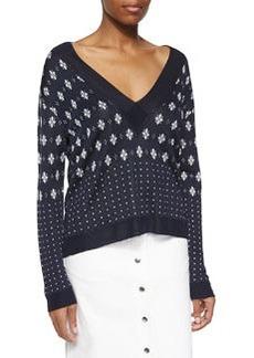 Rag & Bone Abigale Pullover V-Neck Top