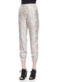 Rag & Bone Alfred Printed Cropped Silk Pants