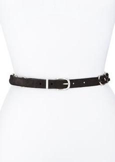 Rag & Bone Bradbury Woven Suede Hip Belt, Black