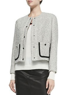 Rag & Bone Cannon Tweed Snap-Front Jacket
