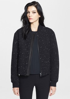 rag & bone 'Challenge' Leather Trim Bomber Jacket