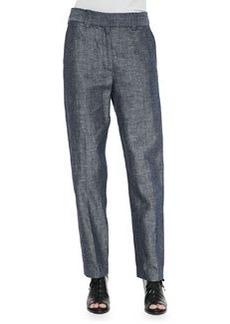 Rag & Bone Claud Straight-Leg Shantung Trousers